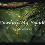 comfort thy people