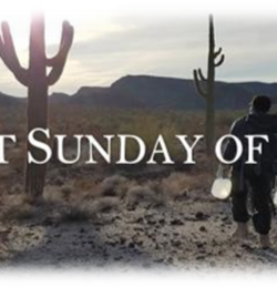 First Sunday in lent 1